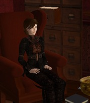Bookworm in an armchair at 221B